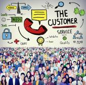 Diverse people and Customer Service — Stock Photo