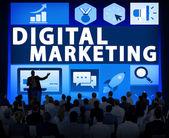 People at seminar about Digital Marketing — Stock Photo