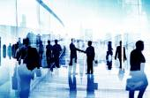Silhouette of business people — Stock Photo