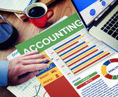 Accounting Businessman Working Calculating Thinking Planning — Stock Photo