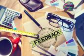 Feedback Evaluation Reflection Response Result Concept — Stock Photo