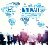 Business people and Global Innovate Creativity — Stock Photo