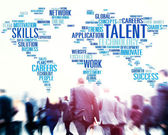 Business people and Global Talent — Stock Photo