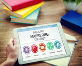 Inbound Marketing Strategy Advertisement Commercial Branding — Stock Photo