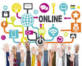 Global Online Communication Social Networking Technology — Stock Photo