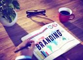Branding identitet strategi upphovsrätt marknadsföringskoncept — Stockfoto