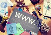 Concept créatif du design web www — Photo