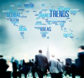 Business people and Global Trends — Stock Photo