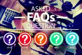 Frequently Asked Questions FAQ Problems Concept — Stock Photo