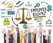 Employee Rights and Human Hands — Stock Photo