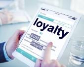 Conceito de lealdade significado digital dicionário on-line — Fotografia Stock