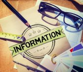 Information Info Data Facts Source — Stock Photo