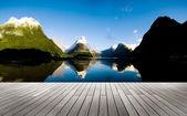 Milford Sound New Zealand Travel Destination Concept  — Stock Photo