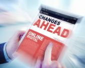 Digital Online News Changes Ahead Future Working Concept — Stock Photo