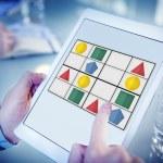 Sudoku Puzzle Problem Solving Leisure Games Concept — Stock Photo #74711055