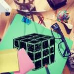 Cube Dimension  Concept — Stock Photo #74714439