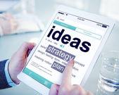Digital Dictionary Ideas Strategy Plan Concept — Stock Photo