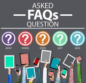Frequently Asked Questions Concept — Foto Stock