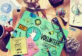 Volunteer Charity Help Sharing Giving Donate Assisting Concept — Stock Photo