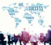 Business people and global success — Stock Photo