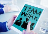 Teamwork Group Collaboration Organization — Stock Photo