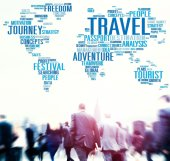 Business people and Global Travel — Stock Photo