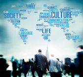 Business people and Global Culture Community Ideology — Stock Photo