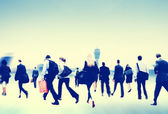 Business People Walking at Airport — Stock Photo