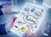 Concetto di pubblicità commerciale di affari di squadra strategia marketing — Foto Stock