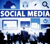 Social Media Social Networking Connection Media Link Concept — Stock Photo