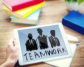 Pracy zespołowej grupy współpracy organizacji — Zdjęcie stockowe
