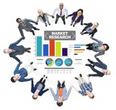 Market Research Business Percentage Research Marketing Strategy — Stock Photo