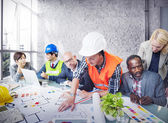 Architects and Engineers  Working at Office — Stock Photo