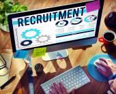 Recruitment Occupation Jobs Employment Hiring Concept — Stock Photo
