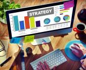 Strategy Data Information Plan Marketing Solution Vision Concept — Stock Photo