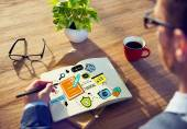 Business Training Strategy Designer Planning Working — Стоковое фото
