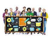 Multi Ethnic Group Training Teamwork Ideas Information — Stock Photo