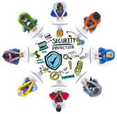 Ethnicity People Digital Internet Security Protection — Stock Photo