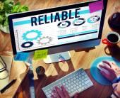 Reliable Trust Integrity Trustworthy Consistency Concept — Stockfoto