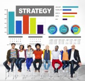 Strategy Data Information Plan Marketing Solution Vision — Stock Photo