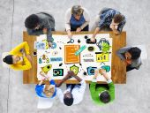 Diversity Business Casual People Brainstorming Training — Stock Photo