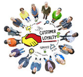 Customer Loyalty Service Support Care Trust Casual — Stock Photo
