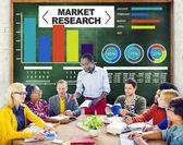 Badania rynku biznesu procent badań strategii marketingowej — Zdjęcie stockowe