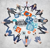 Share Social Media Networking — Stock Photo