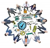 Ethnicity People Team Security Protection Support — Stock Photo