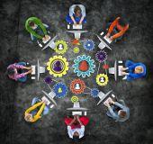 Gemeenschap Team partnerschap samenwerking bedrijfsondersteuning — Stockfoto