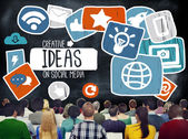 Ideas Creative Social Media Networking — Stock Photo