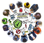 Ethnicity People Digital Devices Security Protection — Stock Photo