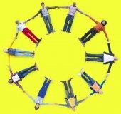 Multi Ethnic Group Unity Concept — Foto Stock