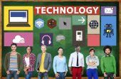 Technology Social Media Networking Online Digital — Stock Photo